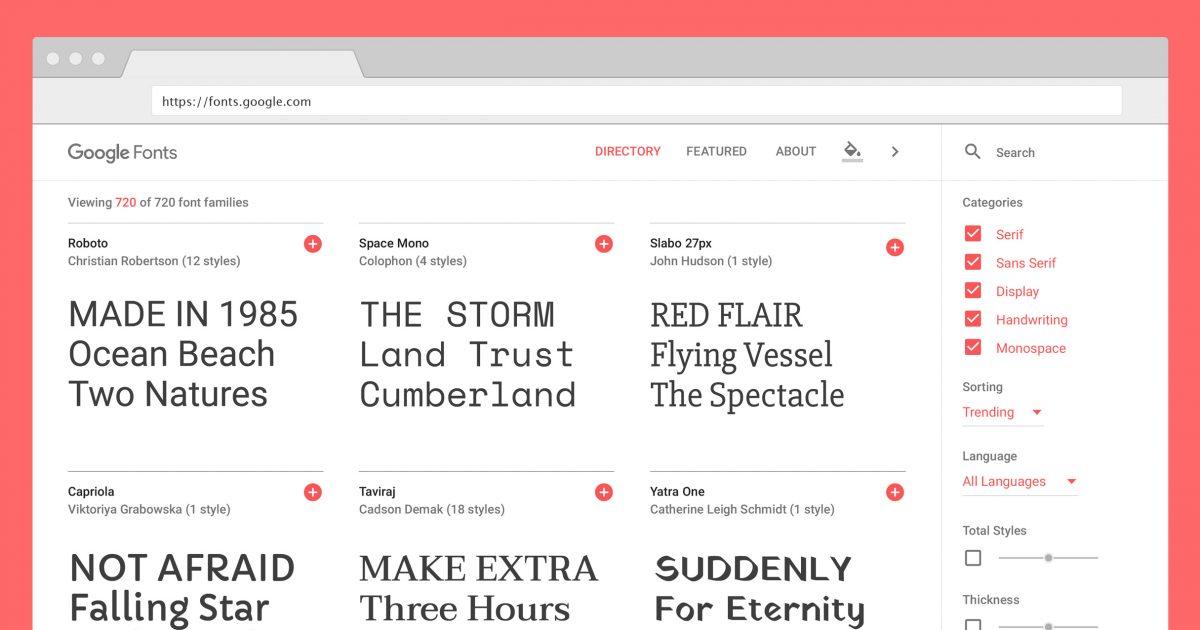 Google Fontsイメージ